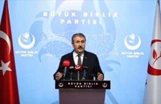 BBP Genel Başkanı Destici: TSK üzerinden siyaset...