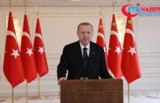 Cumhurbaşkanı Erdoğan: 2021 yılı milletimize...