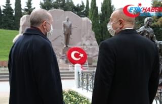 Cumhurbaşkanı Erdoğan, Haydar Aliyev'in kabrini...