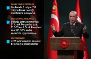 Cumhurbaşkanı Erdoğan: Esnafımıza üç ay süreyle...