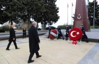 Cumhurbaşkanı Erdoğan, Haydar Aliyev'in kabri...