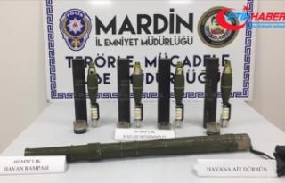 Mardin'de havan rampası ile havan mühimmatları...