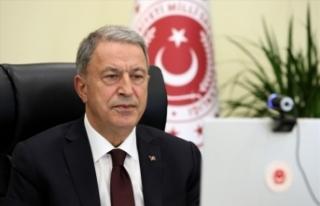 Milli Savunma Bakanı Akar, Irak Savunma Bakanı Saadoonn...
