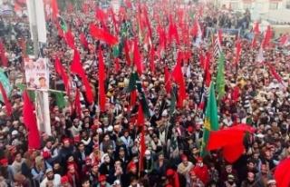 Pakistan'da muhalefetin hükümet karşıtı protestoları...