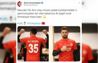 Sivasspor'da kaleci Ali Şaşal'a futbolcu forması...
