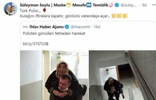 Süleyman Soylu'dan 'Türk Polisi' paylaşımı