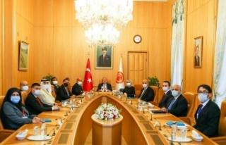 TBMM Başkanı Mustafa Şentop APA Başkanlık divanı...