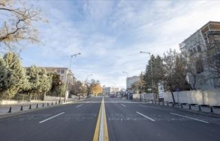 2021'in ilk gününde cadde ve sokaklarda sessizlik...