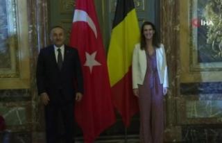 Bakan Çavuşoğlu, Belçika Dışişleri Bakanı...