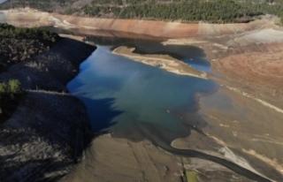 Bursa'nın su ihtiyacını karşılayan barajda...