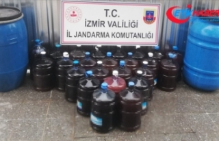 İzmir'de 880 litre kaçak içki ele geçirildi