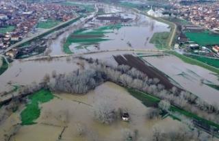 Sağanak kuraklık tehlikesi yaşayan Edirne'de...