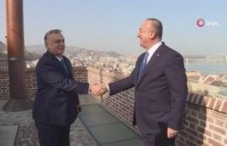 Bakan Çavuşoğlu, Macaristan Başbakanı Orban'la...