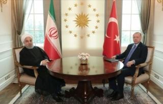 Cumhurbaşkanı Erdoğan ile İran Cumhurbaşkanı...