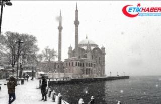 İstanbul'da kar yağışı bazı bölgelerde...