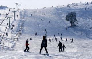 Kayak merkezlerinde kar kalınlığı en fazla 190...