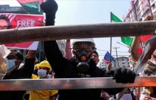 Myanmar'da darbe karşıtı gösterilerde çok sayıda...