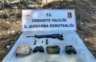 PKK'ya ait sığınakta mühimmat ve yaşam malzemesi...