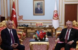 TBMM Başkanı Şentop, Azerbaycan Başbakanı Esedov'u...