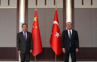 Bakan Çavuşoğlu, Çin Dışişleri Bakanı Wang...