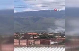 Bolivya'da askeri eğitim uçağı evin üzerine...