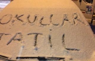 Çankırı'da eğitime kar engeli