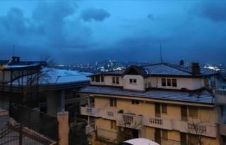 İstanbul'da bazı bölgelere kısa süreli kar...
