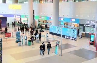 İstanbul'daki havalimanlarında 4 bin 875 yolcunun...