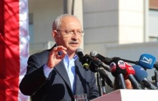 CHP Genel Başkanı Kılıçdaroğlu, Sinop Belediyesi...