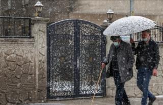 Marmara Bölgesi'nde aralıklı ve karla karışık...