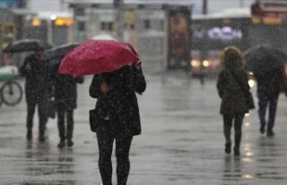 Marmara'nın doğusunda karla karışık yağmur...