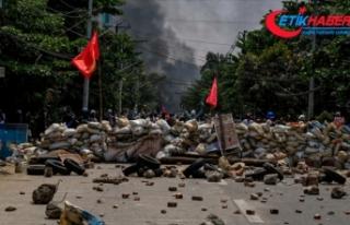 Myanmar'da bugünkü protestolarda ölenlerin...