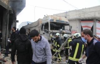 Suriye'nin kuzeyindeki Bab'da bombalı terör...