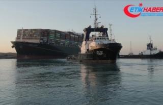Uluslararası veriler Süveyş Kanalı'nda gemi...