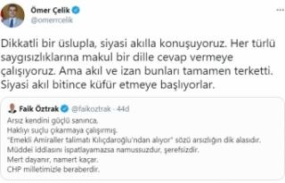 AK Parti Sözcüsü Çelik'ten Öztrak'a yanıt:...
