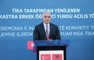 Bakan Ersoy, TİKA'nın restore ettiği Gjirokastra...