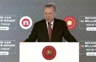 Cumhurbaşkanı Erdoğan'dan yatay mimari vurgusu