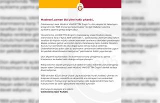 "Galatasaray'dan açıklama: ""Vahdettin Engin..."