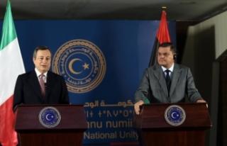 İtalya Başbakanı Mario Draghi, Libya Ulusal Birlik...