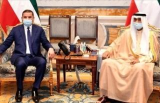 Libya Başbakan Dibeybe, Kuveyt Kralı Al-Sabah ile...