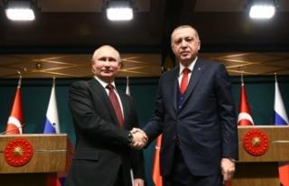 Cumhurbaşkanı Erdoğan, Rusya Devlet Başkanı Putin...