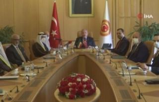 TBMM Başkanı Şentop, Kuveyt Dışişleri Bakanı...
