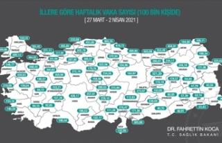 Türkiye genelinde bu hafta da 100 binde Kovid-19...