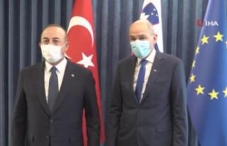 Bakan Çavuşoğlu, Slovenya Başbakanı Jansa ile...