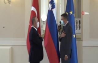Bakan Çavuşoğlu, Slovenya Cumhurbaşkanı Pahor...