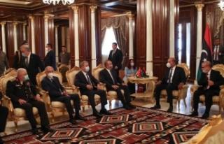 Bakan Çavuşoğlu ve Akar, Libya Başkanlık Konseyi...