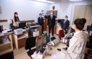 Bakan Gül, Ankara Adliyesinde salgın tedbirlerini...