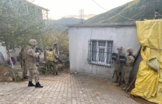 Bitlis merkezli terör operasyonu: 9 gözaltı