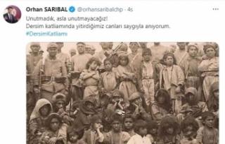 CHP Bursa Milletvekili Orhan Sarıbal'ın Dersim...
