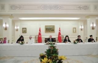 Cumhurbaşkanı Erdoğan, azınlık cemaat liderleri...